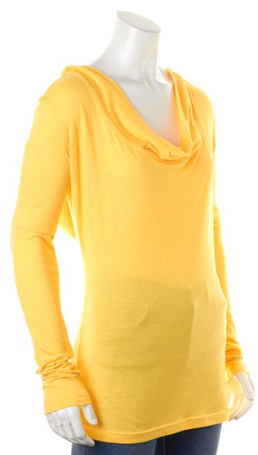 ADIDAS BY STELLA MCCARTNEY Canary Yellow Cowl Neck Hooded Sweater