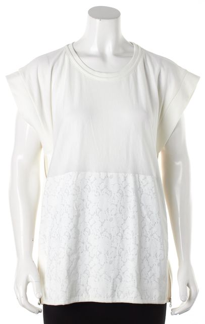 ADIDAS BY STELLA MCCARTNEY White Floral Side Zip Top