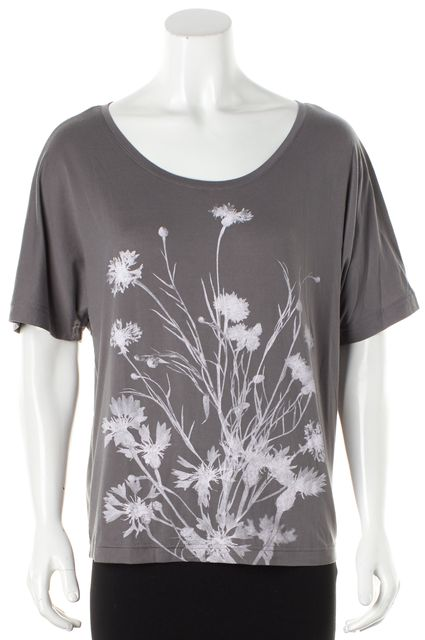 ADIDAS BY STELLA MCCARTNEY Gray Pink Floral Graphic Knit Jersey Top