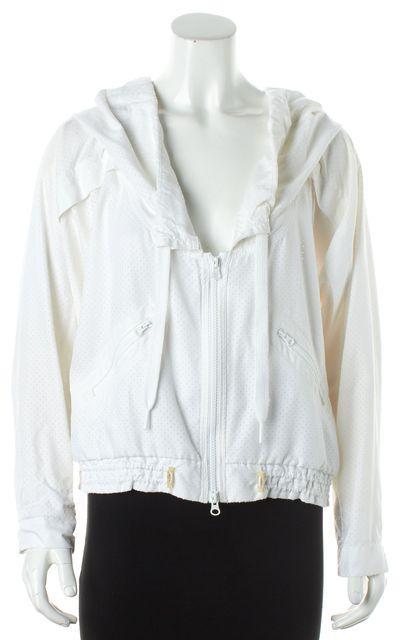 ADIDAS BY STELLA MCCARTNEY White Drawstring Hoodie Windbreaker Jacket