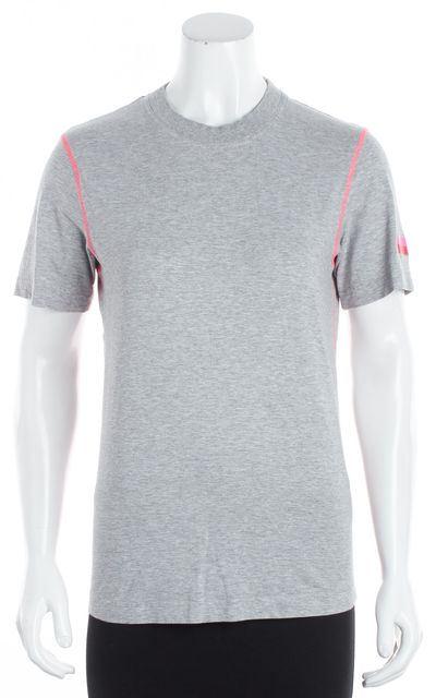 ADIDAS BY STELLA MCCARTNEY Gray/ Pink Graphic T-Shirt