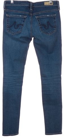 AG ADRIANO GOLDSCHMIED Blue Distressed Skinny Jeans Size 25