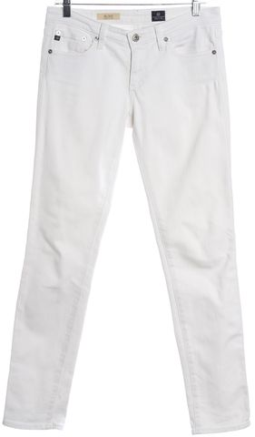 AG ADRIANO GOLDSCHMIED White The Stilt Cigarette Jean Skinny Jeans