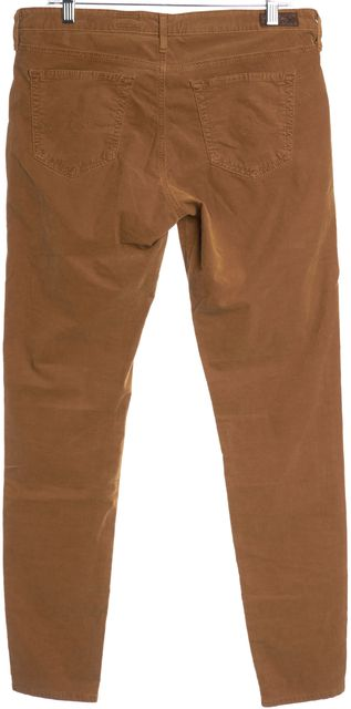 AG ADRIANO GOLDSCHMIED Brown The Legging Super Skinny Corduroy Pants