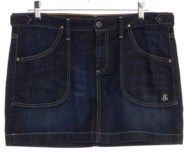 AG ADRIANO GOLDSCHMIED Dark Wash Denim Mini Pencil Skirt