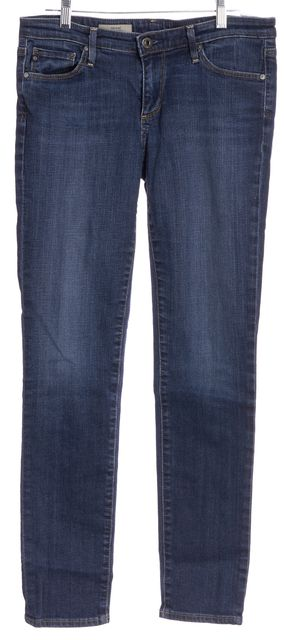 AG ADRIANO GOLDSCHMIED Blue The Stilt Cigarette Leg Skinny Jeans
