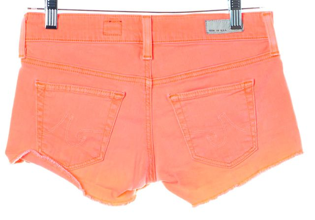 AG ADRIANO GOLDSCHMIED Neon Pink Denim Cut-Offs Daisy Low-Rise Shorts