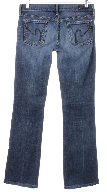 AG ADRIANO GOLDSCHMIED Blue Kelly Low Waist Boot Cut Slim Fit Jeans