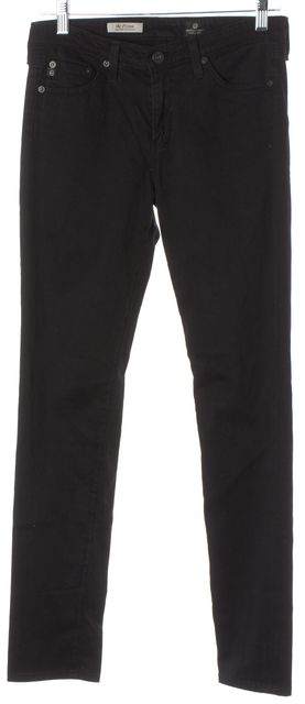 AG ADRIANO GOLDSCHMIED Black The Prima Mid-Rise Cigarette Skinny Jeans