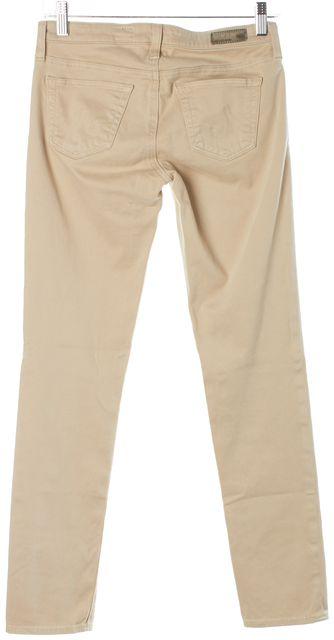 AG ADRIANO GOLDSCHMIED Beige Straight Leg Jeans