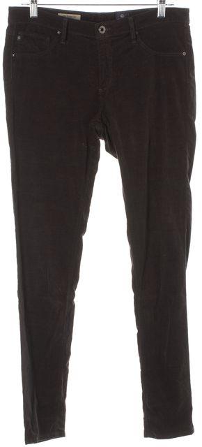 AG ADRIANO GOLDSCHMIED Black Super Skinny Velvet Corduroy Legging