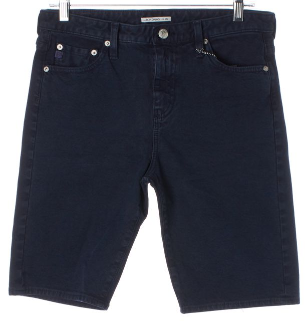 AG ADRIANO GOLDSCHMIED X ALEXA CHUNG Dark Blue Denim Bermuda Shorts