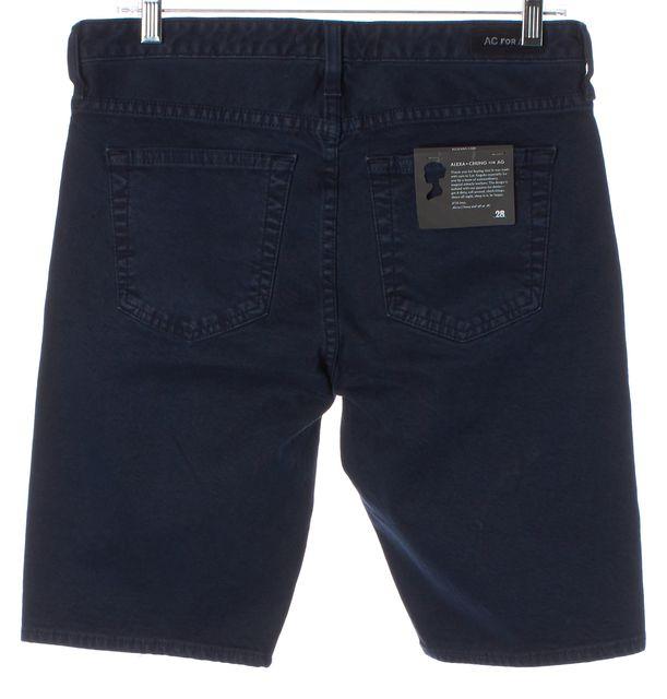 AG ADRIANO GOLDSCHMIED X ALEXA CHUNG Dark Blue Denim Bermuda Shorts