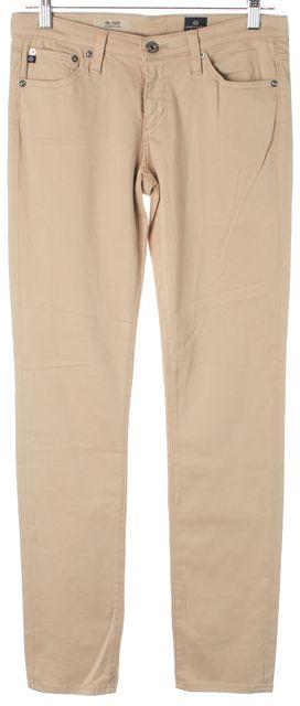 AG ADRIANO GOLDSCHMIED Beige Khaki The Stilt Cigarette Leg Skinny Jeans