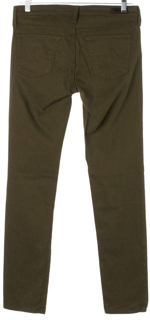 AG ADRIANO GOLDSCHMIED Green The Stilt Cigarette Leg Skinny Jeans