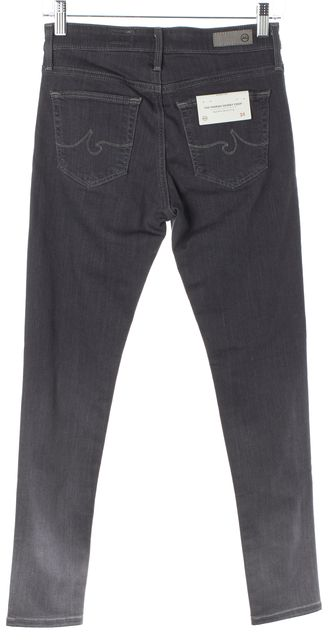 AG ADRIANO GOLDSCHMIED Gray Ombre Farrah High-Rise Skinny Crop Jeans
