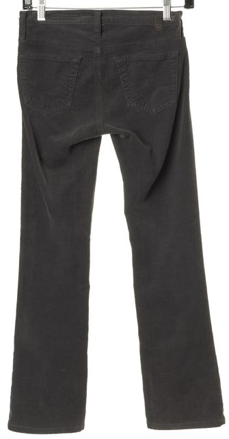 AG ADRIANO GOLDSCHMIED Gray The Angel Boot Cut Corduroys Pants