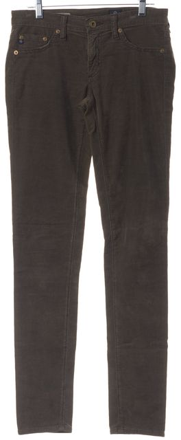 AG ADRIANO GOLDSCHMIED Brown The Jegging Super Skinny Fit Corduroy Pants