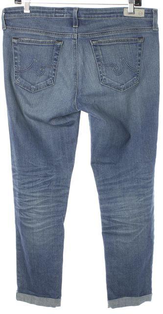 AG ADRIANO GOLDSCHMIED Blue Stilt Roll Up Cigarette Skinny Jeans