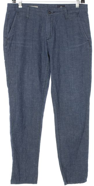 AG ADRIANO GOLDSCHMIED Blue The Tristan Tailored Trouser Pants