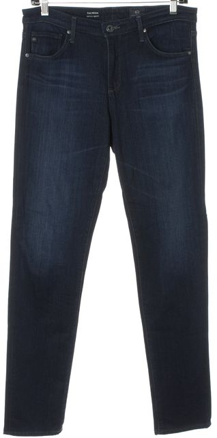 AG ADRIANO GOLDSCHMIED Blue The Prima Mid-Rise Cigarette Skinny Jeans