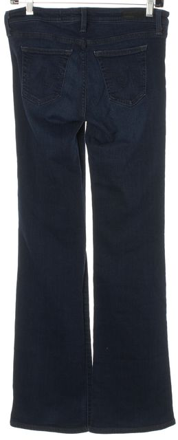 AG ADRIANO GOLDSCHMIED Blue The Angel Boot Cut Low Rise Slim Fit Jeans