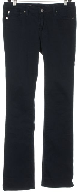 AG ADRIANO GOLDSCHMIED Navy Blue The Ballad Slim Boot-Cut Leggings Pants