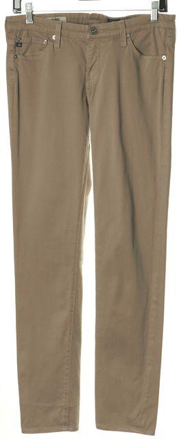 AG ADRIANO GOLDSCHMIED Beige Soft Denim Stilt Cigarette Leg Skinny Jeans