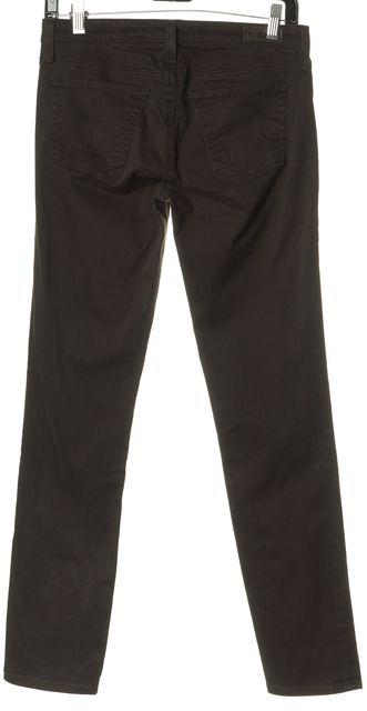 AG ADRIANO GOLDSCHMIED Brown The Stilt Cigarette Leg Skinny Jeans