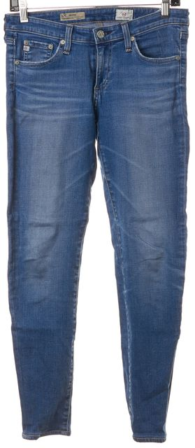 AG ADRIANO GOLDSCHMIED Blue The Stilt Slim Fit Skinny Leg Jeans