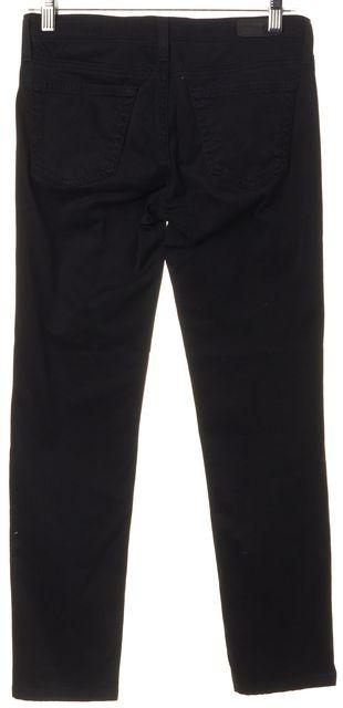 AG ADRIANO GOLDSCHMIED Black Soft Denim The Stilt Cigarette Skinny Jeans