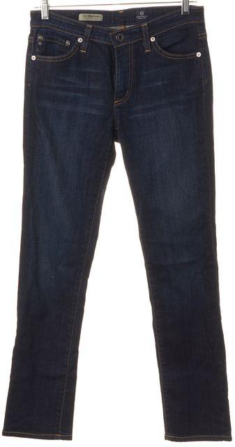 AG ADRIANO GOLDSCHMIED Blue Denim The Premiere Skinny Straight Jeans