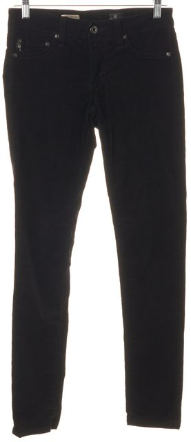 AG ADRIANO GOLDSCHMIED Black The Jegging Super Skinny Fit Corduroy Pants