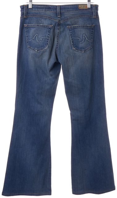 AG ADRIANO GOLDSCHMIED Blue Stretch Cotton Legend Flare Jeans