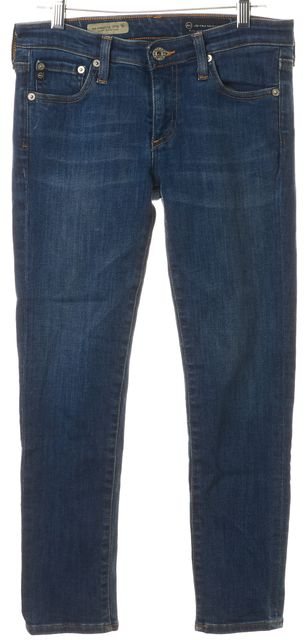 AG ADRIANO GOLDSCHMIED Blue Super Skinny Crop Legging Jeans
