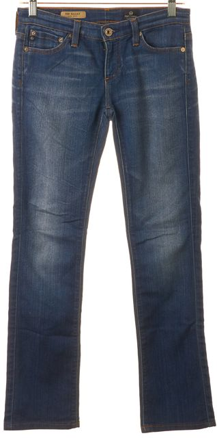 AG ADRIANO GOLDSCHMIED Blue Medium Wash Ballad Slim Boot Cut Jeans