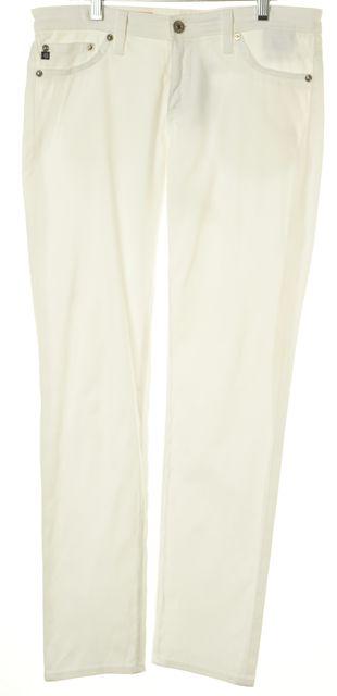 AG ADRIANO GOLDSCHMIED White Skinny Leg Jeans