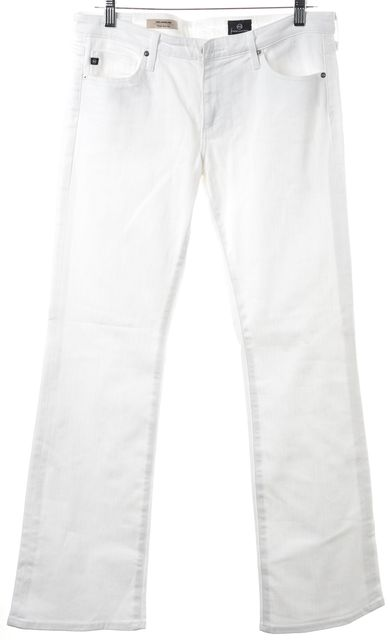 AG ADRIANO GOLDSCHMIED White Angelina Petite Boot Cut Jeans