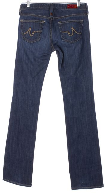 AG ADRIANO GOLDSCHMIED Blue The Kiss Straight Leg Jeans