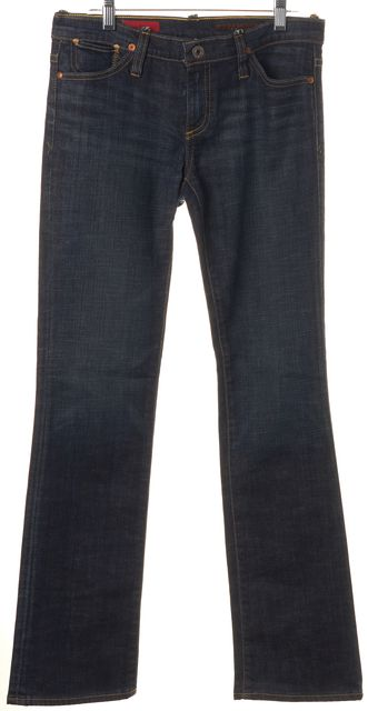 AG ADRIANO GOLDSCHMIED Blue Kiss Mid-Rise Straight Leg Jeans