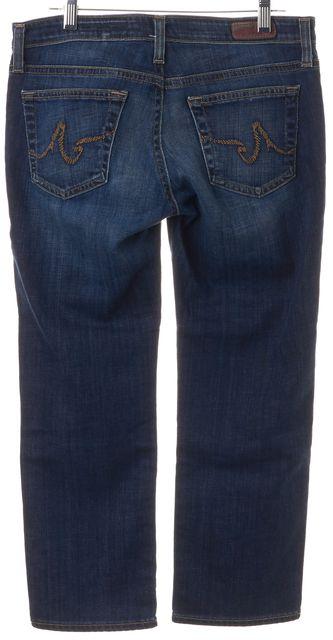 AG ADRIANO GOLDSCHMIED Blue Cotton Denim The Capri Cropped Jeans