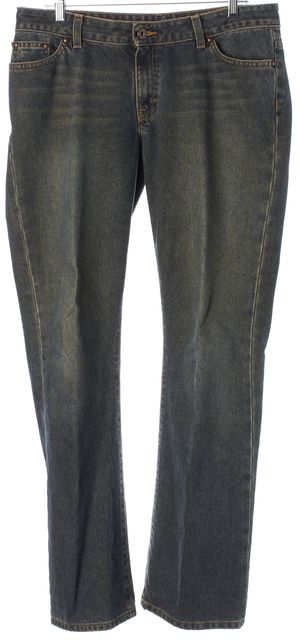 AG ADRIANO GOLDSCHMIED Blue Gemini Mid-Rise Boot Cut Jeans