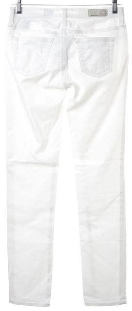 AG ADRIANO GOLDSCHMIED White Stretch Cotton Stilt Cigarette Skinny Jeans