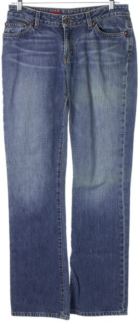 AG ADRIANO GOLDSCHMIED Blue Gemini Light Wash Boot Cut Jeans