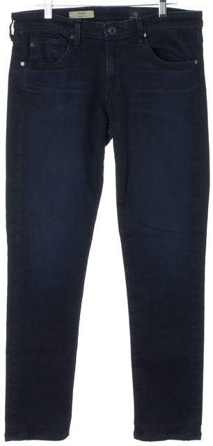 AG ADRIANO GOLDSCHMIED Blue Stilt Cigarette Mid-Rise Slim Fit Jeans