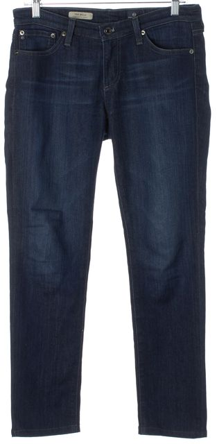 AG ADRIANO GOLDSCHMIED Blue Dark Wash Stilt Cigarette Slim Fit Jeans