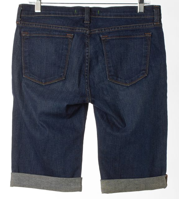 J BRAND #1049 Saturn Blue Stretch Denim Bermuda Cuffed Shorts
