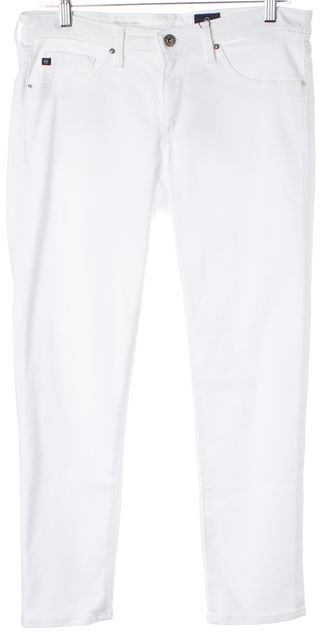 AG ADRIANO GOLDSCHMIED White Stilt Cigarette Cropped Jeans