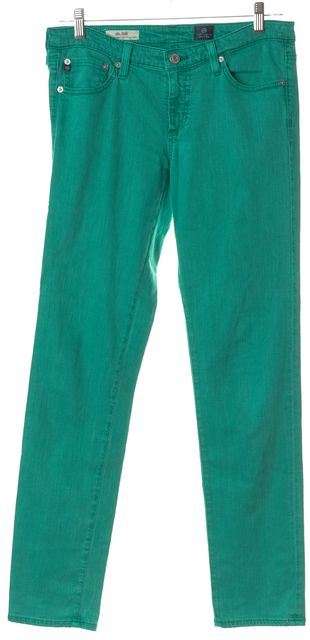 AG ADRIANO GOLDSCHMIED The Stilt Green Slim Fit Jeans