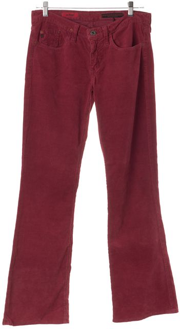 AG ADRIANO GOLDSCHMIED Red The Angel Corduroys Pants